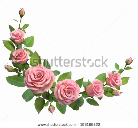 stock-photo-rounded-border-with-roses-branches-isolated-in-white-d-illustration-196186322