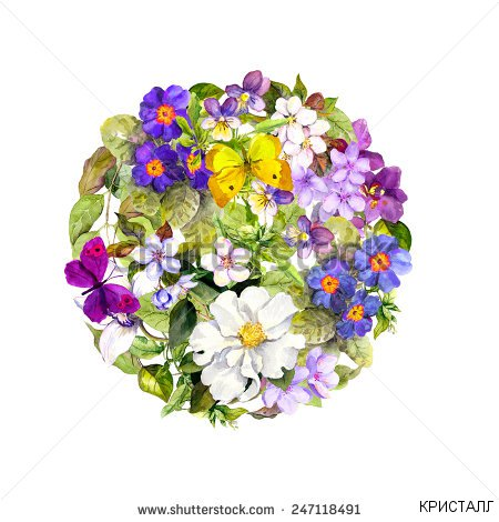 stock-photo-vintage-round-background-floral-pattern-with-blue-violet-flowers-and-spring-butterflies-retro-247118491