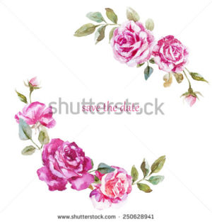 stock-photo-mimosa-rose-wreath-frame-valentines-day-flowers-decor-watercolor-250628941